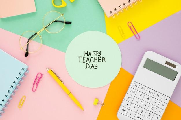 Koncepcja biurko nauczyciela powyżej widoku