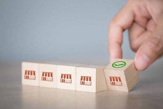 Koncepcja biznesowa franczyzy, ręcznie wybrać blog drewna z marketingu franczyzy.