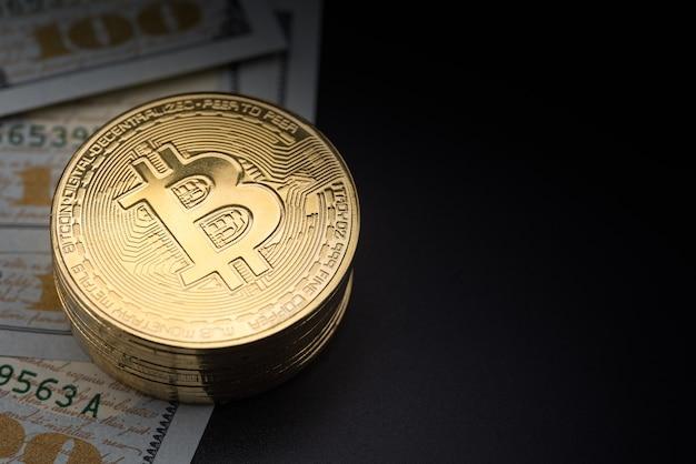 Koncepcja biznesowa, pieniądze, technologia i kryptowaluta.