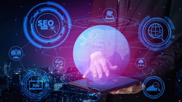 Koncepcja biznesowa seo search engine optimization