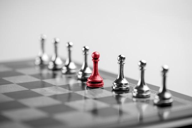 Koncepcja biznesowa szachów, lider i sukces