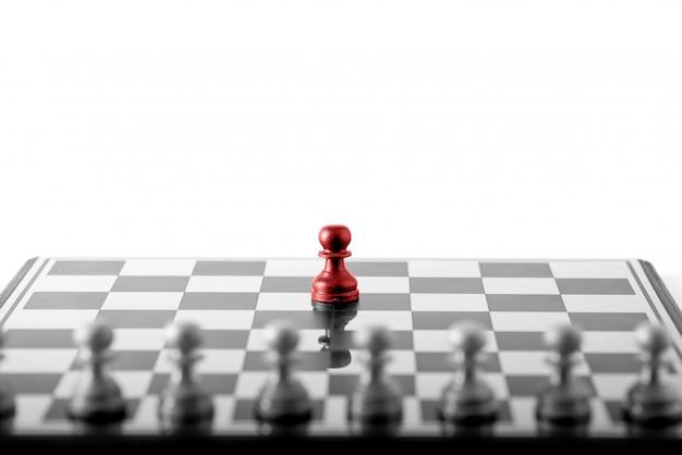 Koncepcja biznesowa szachowa, praca zespołowa lidera i sukces