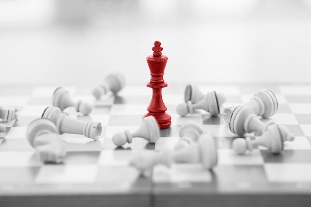 Koncepcja biznesowa szachy, lider i sukces