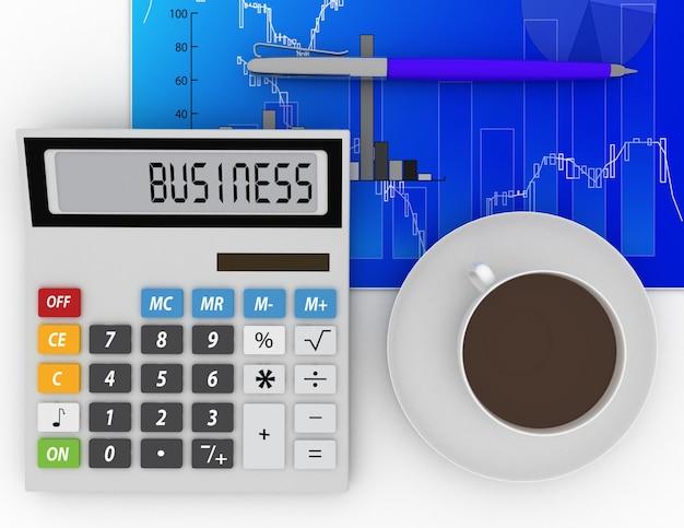 Koncepcja biznesu, finansów i rachunkowości. 3d renderowana ilustracja