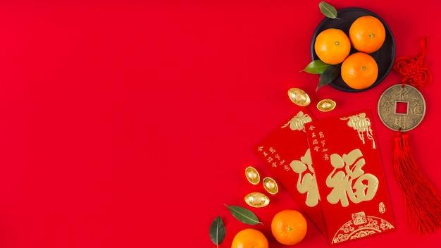 Koncepcja chińskiego nowego roku z miejsca na kopię