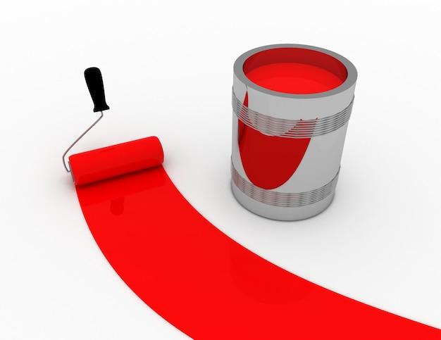 Koncepcja czerwonej farby