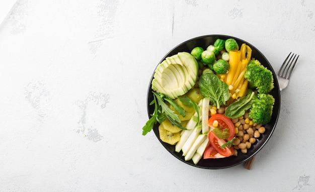 Koncepcja dietetyka zdrowej żywności.