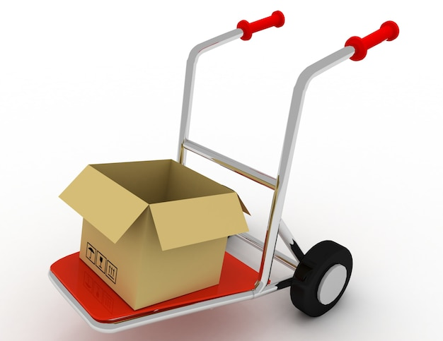 Koncepcja dostawy towarów. 3d renderowana ilustracja