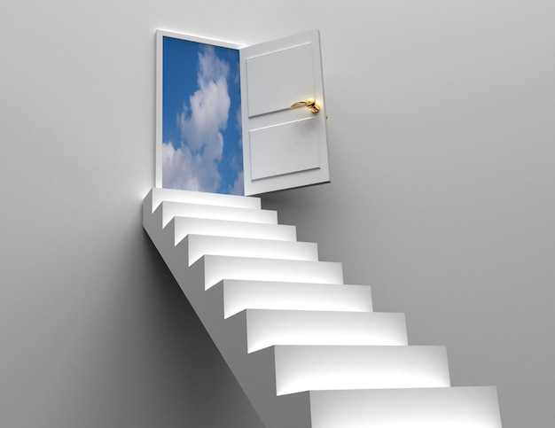 Koncepcja drzwi i schodów