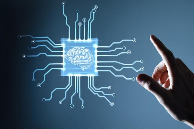 Koncepcja dużych zbiorów danych i sztucznej inteligencji.