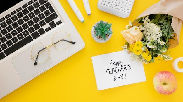 Koncepcja dzień szczęśliwy nauczyciela