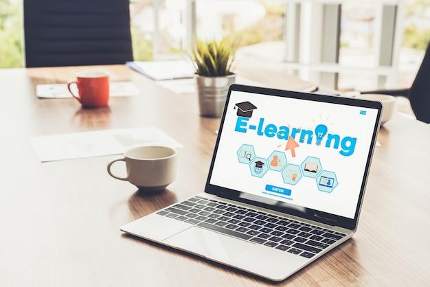 Koncepcja e-learningu i edukacji online dla studentów i uniwersytetów.