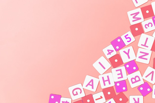 Koncepcja edukacji obraz numeru alfabetu dla zabawki dla dzieci
