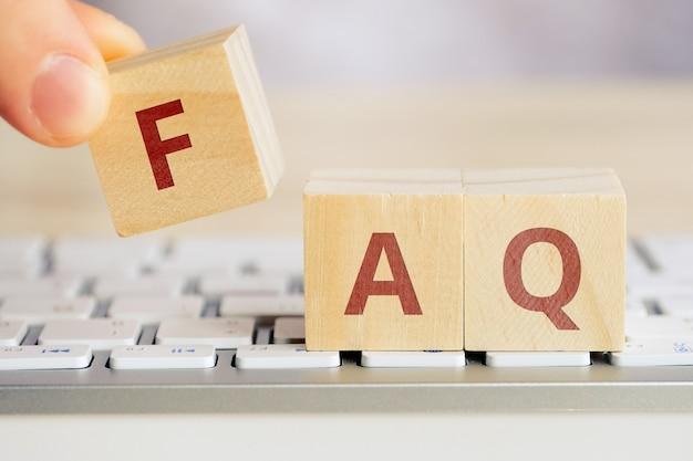 Koncepcja faq dotycząca głównych zagadnień związanych z programem komputerowym.