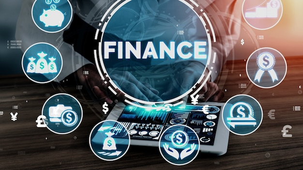 Koncepcja finanse i technologia transakcji pieniężnych