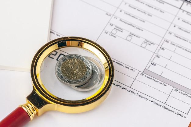Koncepcja finansowa, zamknij widok pieniędzy na biznes