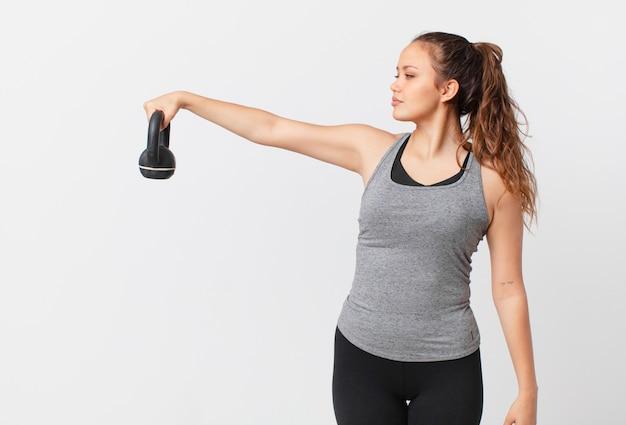 Koncepcja fitness młoda ładna kobieta