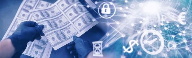 Koncepcja globalnego kryzysu gospodarczego nielegalna produkcja dolarów drukuj pieniądze pod ziemią