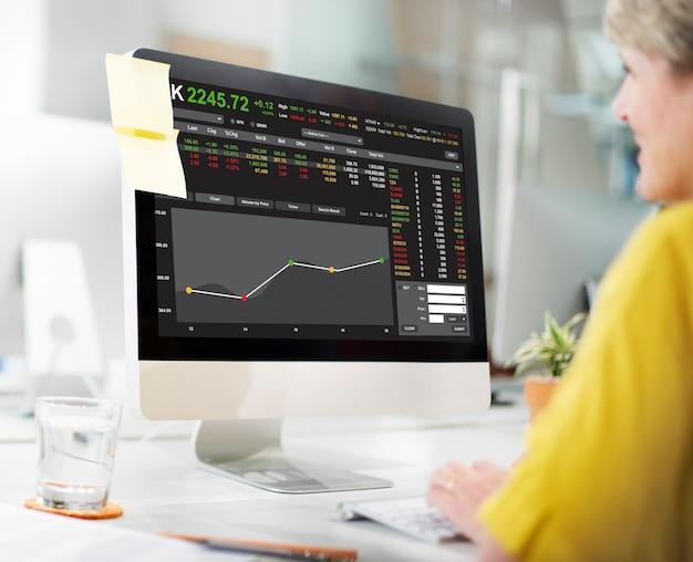Koncepcja graficzna handlu na giełdzie forex finance
