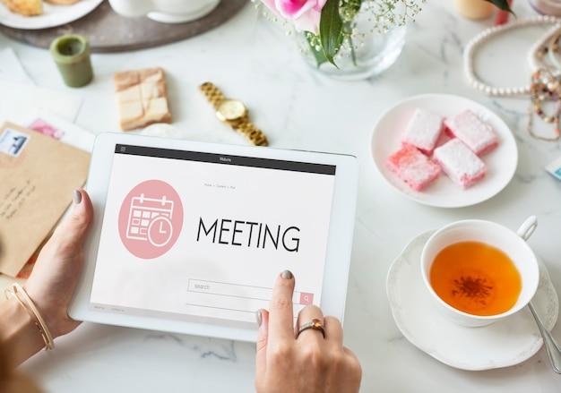 Koncepcja graficzna spotkania kalendarza agendy