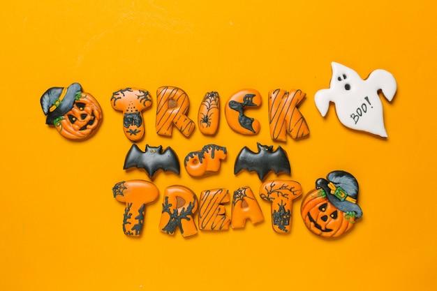 Koncepcja halloween z ciasteczkami