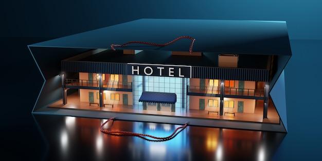 Koncepcja hotelu w miniaturze.