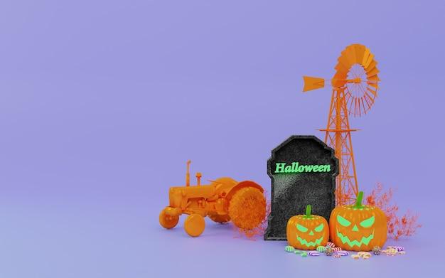 Koncepcja ilustracji 3d na halloween