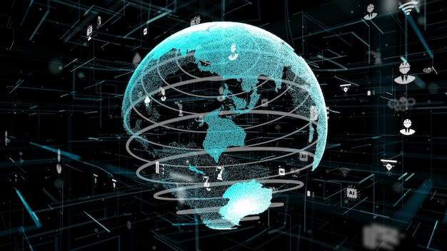 Koncepcja innowacji cyfrowej technologii przemysłowej 4.0