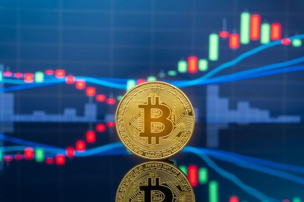 Koncepcja inwestowania bitcoin i kryptowaluta.