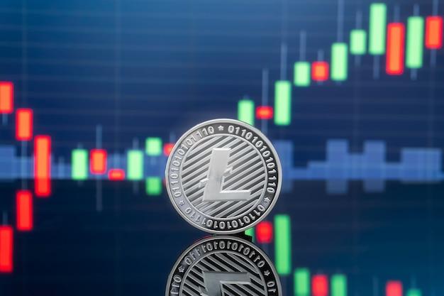 Koncepcja inwestowania w litecoin i kryptowaluty.