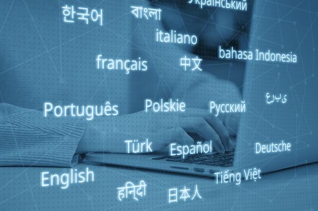 Koncepcja kariery tłumacza w różnych językach. stonowany.