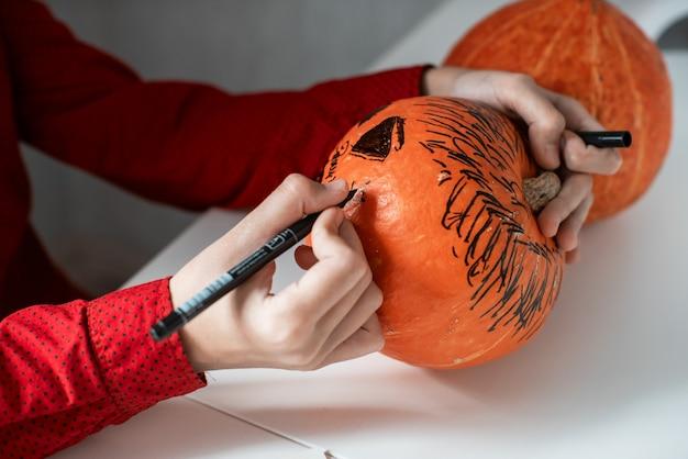 Koncepcja karnawału lub maskarady halloween