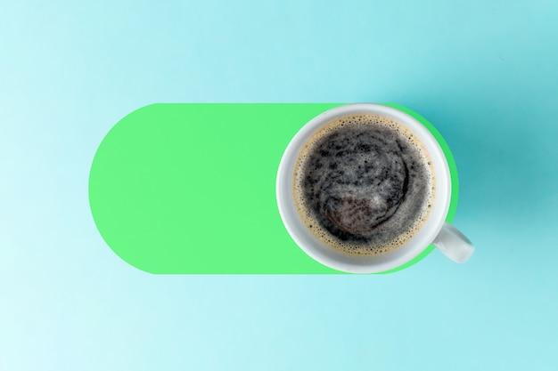 Koncepcja kawy włącz