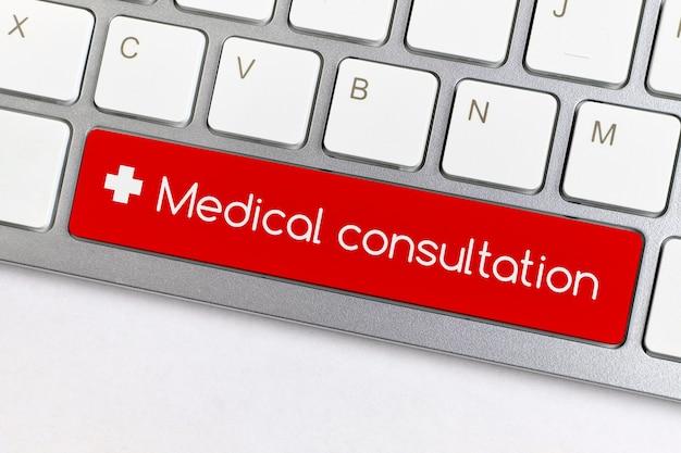 Koncepcja konsultacji medycznych online na przycisk klawiatury