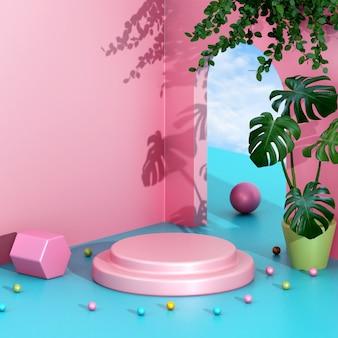 Koncepcja kreatywna minimalistyczna aranżacja sceny podium sceny do prezentacji produktu