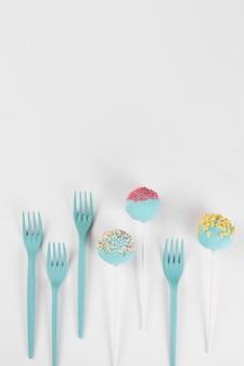 Koncepcja kreatywnych pop ciasto