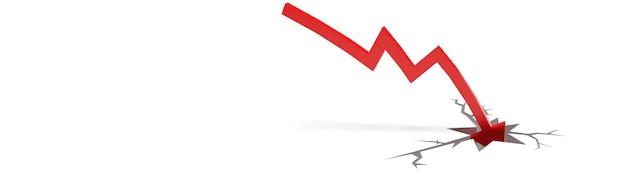 Koncepcja kryzysu gospodarczego. rozprzestrzenianie się na świecie, gospodarka upada. ilustracja 3d