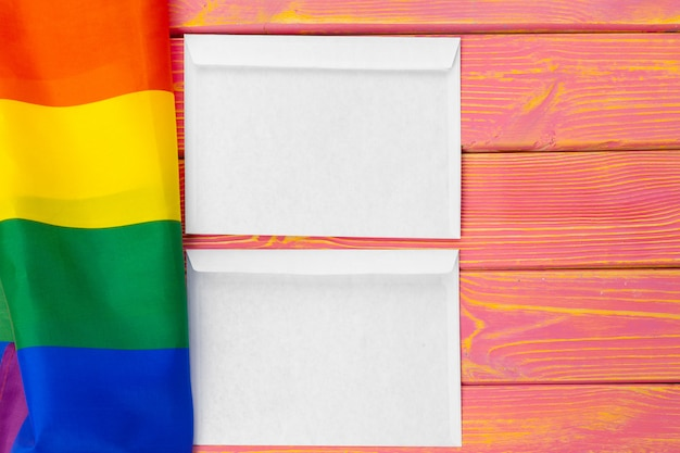 Koncepcja lgbtq, symbol gejów, wiadomość dla ciebie