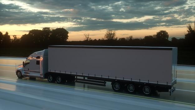 Koncepcja logistyki naczepy transportuje