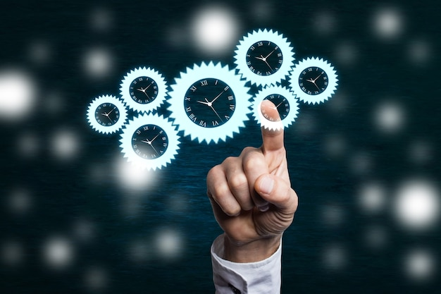 Koncepcja mechanizmu pracy firmy na rozmytym tle