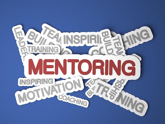 Koncepcja mentoringu. renderowanie 3d.