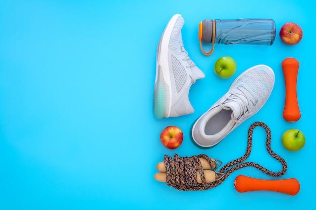 Koncepcja miłości fitness, zdrowy i aktywny styl życia.