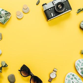 Koncepcja moda lato podróży płaskich świeckich