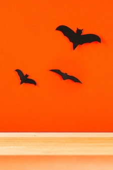 Koncepcja na halloween. nietoperze