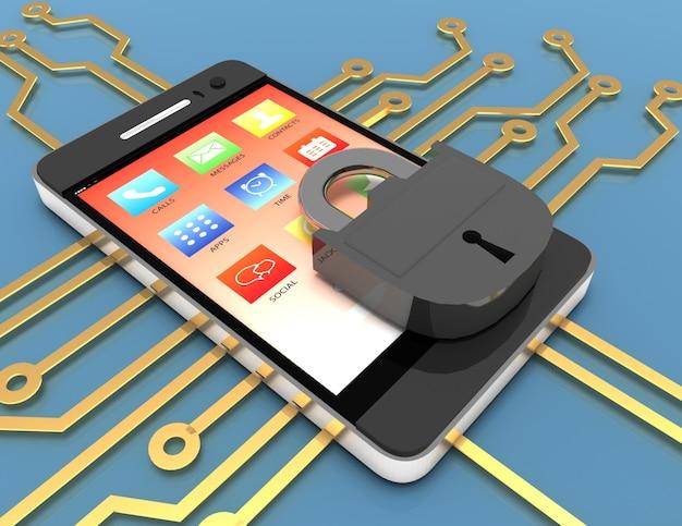Koncepcja naprawy smartfona. 3d renderowana ilustracja