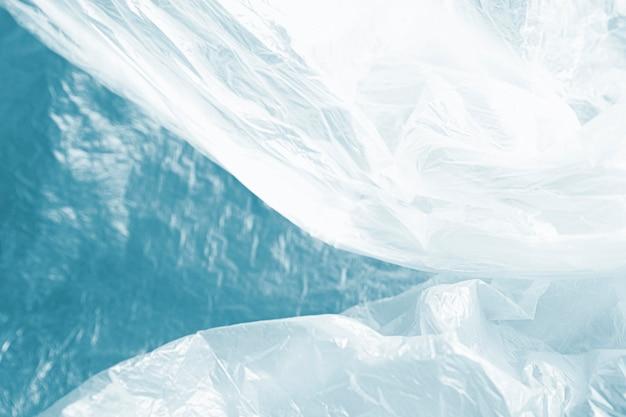 Koncepcja niebieski streszczenie plastikowej torbie