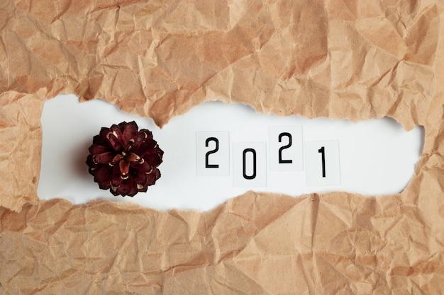 Koncepcja nowego roku 2021.