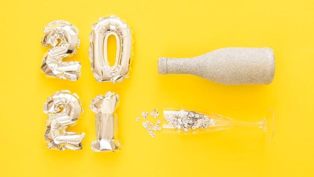 Koncepcja nowego roku z miejsca na kopię