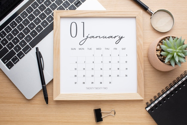 Koncepcja organizacji czasu z płaskim kalendarzem