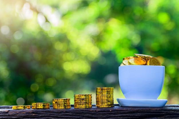 Koncepcja oszczędzania pieniędzy i rozwoju biznesu